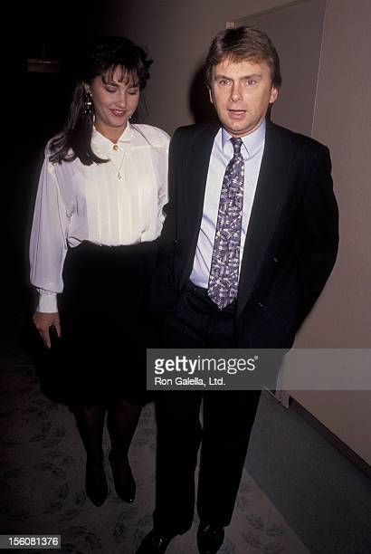 Game Show Host Pat Sajak and wife Lesly Brown attending 'Toys for Tots Benefit' on December 12 1990 at the Beverly Hilton Hotel in Beverly Hills...