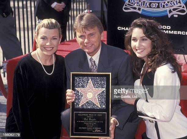 Game Show Host Pat Sajak wife Lesly Brown and Vanna White attending 'Pat Sajak Receives Walk of Fame Star' on February 10 1994 at the Hollywood Walk...