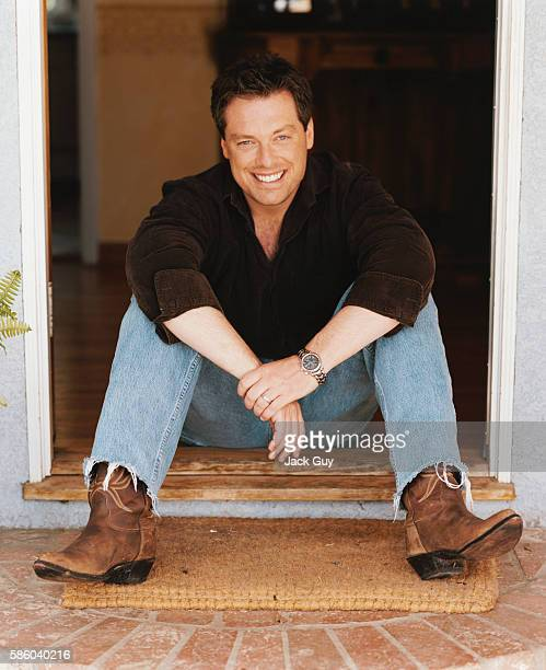Game show host Todd Newton is photographed for InTouch Weekly in 2003 at home in Los Angeles California PUBLISHED IMAGE