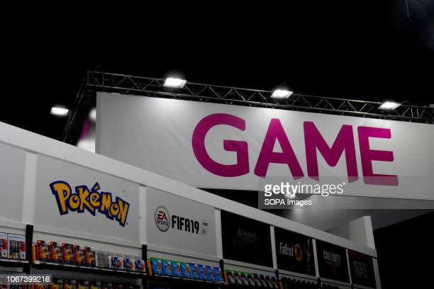 L´HOSPITALET CATALONIA SPAIN A game sign seen during the Barcelona Games World Fair