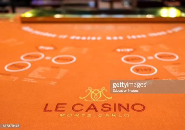 A Game Table Inside Monte Carlo Casino Monaco