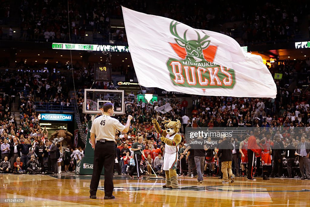 Game Three of the Eastern Conference Quarterfinals between the Chicago Bulls and Milwaukee Bucks of the 2015 NBA Playoffs on April 23, 2015 at the BMO Harris Bradley Center in Milwaukee, February.