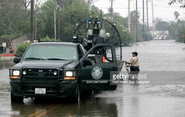 Game Warden Fred Ruiz of Dickinson Texas helped to unload a boat on Sunday September 14 as the Texas Parks and Wildlife Department were called to...