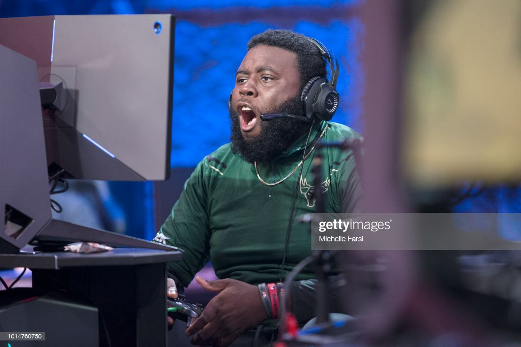 Game6Drake of Bucks Gaming shouts out during the game against Mavs Gaming during Week 12 of the NBA 2K League on August 10, 2018 at the NBA 2K Studio in Long Island City, New York.