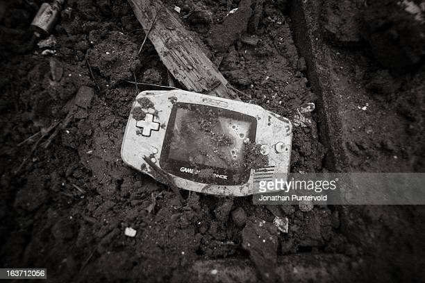 Gameboy Advance I found in the debris in Ishinonaki after the tsunami had hit 2 months before