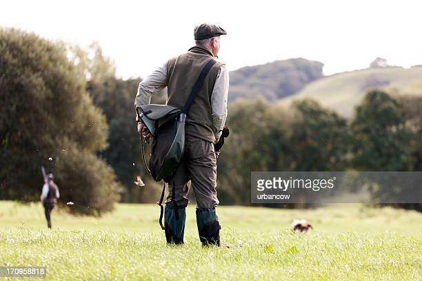 gamekeeper with dog - english culture stock pictures, royalty-free photos & images