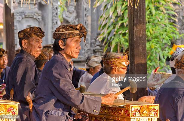 Gamelan orchestra at a Hindu ceremony in Bali