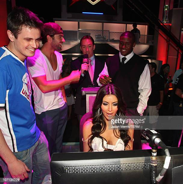 Gamer for Forza Cam , actor Brody Jenner , actress Kim Kardashian and NFL football player Reggie Bush attend DIRECTV's Championship Gaming Series...