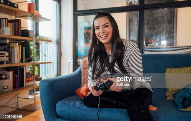 gamer girl! - the internet stock pictures, royalty-free photos & images