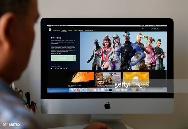 A gamer plays the video game Fortnite Battle Royale developed by People Can Fly and Epic Games on May 03 2018 in Paris France Fortnite is an online...
