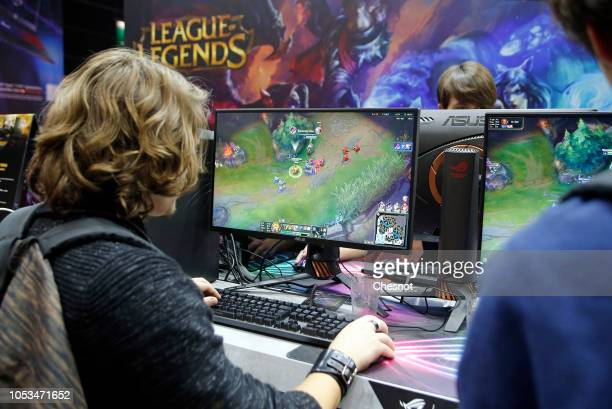 A gamer plays the video game 'League of Legends' developed and published by Riot Games during the 'Paris Games Week' on October 25 2018 in Paris...
