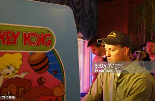 Gamer Steve Wiebe goes for a World Record in the video game Donkey Kong during the afterparty for 'King Kong A Fistful of Quarters' Dave and Busters...