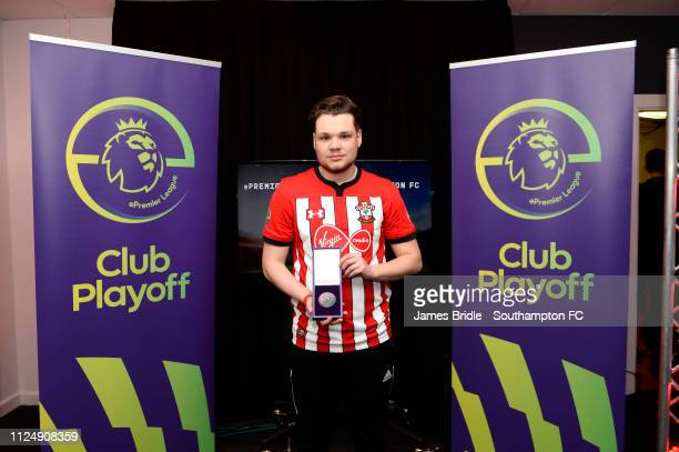 Gamer Tag 'Venn' winner of the PS4 tournament for Southampton FC pictured for the ePremier League tournament held at St Mary's Stadium on February...