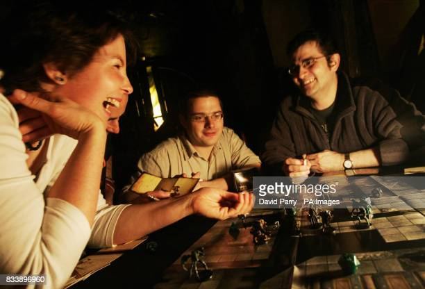 Gamers during the Worldwide Dungeons and Dragons Game Day event at the London Dungeon in south London