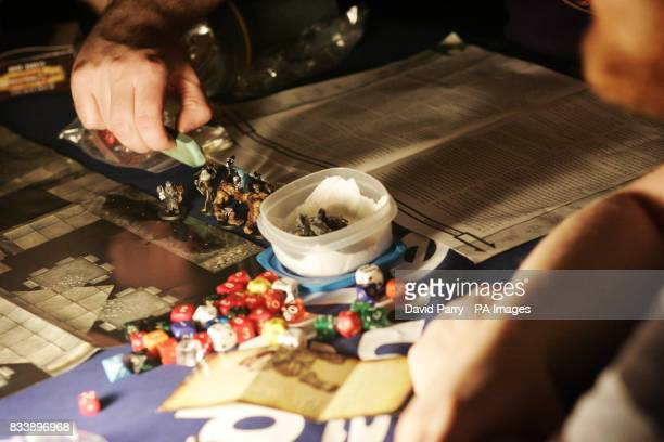 Gamers get ready before the start of the Worldwide Dungeons and Dragons Game Day event at the London Dungeon in south London