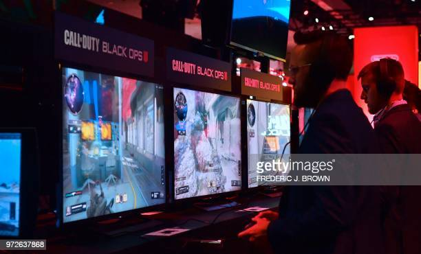 Black Ops at the 24th Electronic Expo or E3 2018 in Los Angeles California on June 12 where hardware manufacturers software developers and the video...