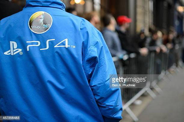 Gamers queue in Covent Garden ahead of the launch of the Playstation 4 on November 28 2013 in London England
