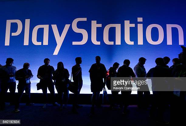 Gamers wait in line to enter Sony Playstation booth during the annual E3 2016 gaming conference at the Los Angeles Convention Center on June 14 2016...