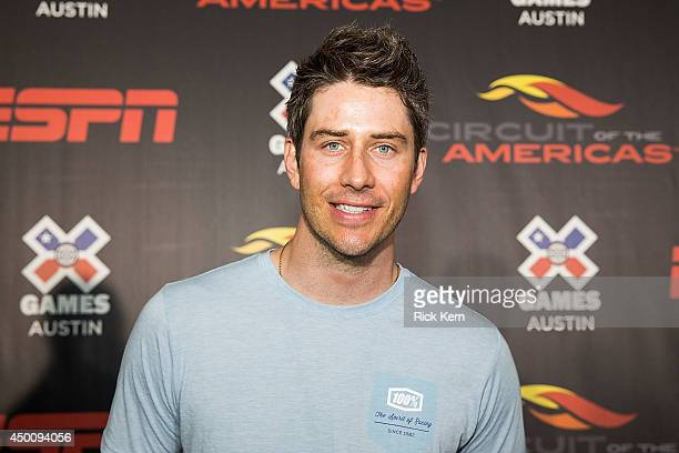 Games Austin athlete Arie Luyendyk Jr poses during the X Games Gold Medalists Media Reception at the Velocity Lounge at COTA on June 4 2014 in Austin...