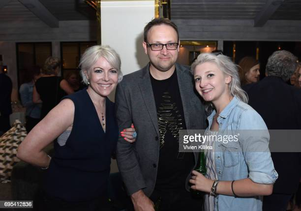 Games Committee member Jo Twist actor Michael French and writer Sophie Densham attend BAFTA Honours Riot Games with Special Award at The London West...