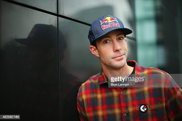 Games gold medalist Travis Pastrana poses for a photo prior to the Nitro Circus Live Show at the MEN Arena on November 26 2013 in Manchester England