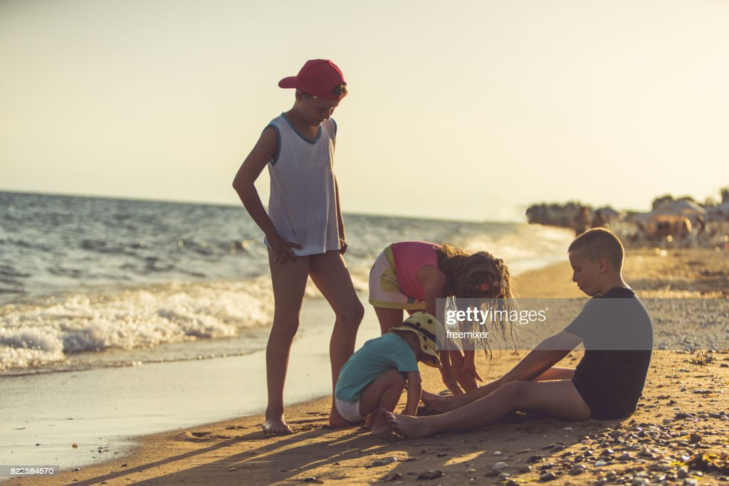 Games in the sand : Stock Photo