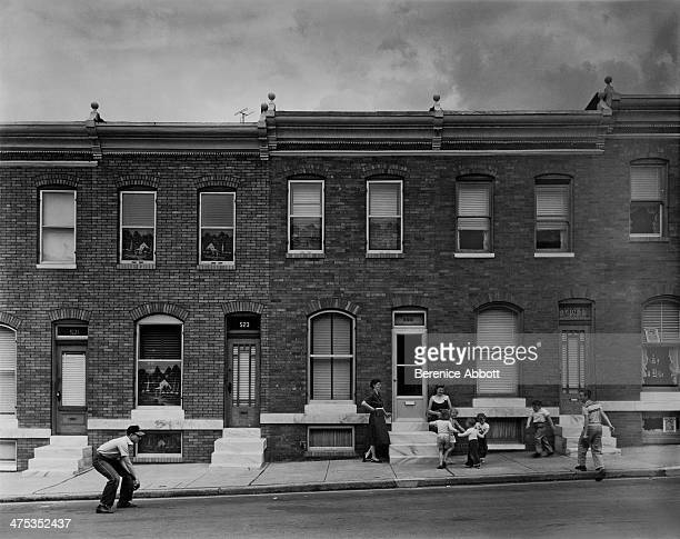 Games in the street Baltimore Maryland United States 1954