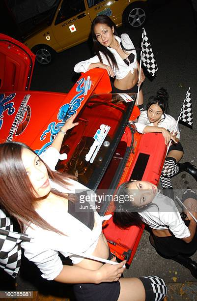 EA Games models during EA Games Hosts Def Jam Fight For NY featured Kanye West Party Lamborghini Arrivals at Alife Club in Tokyo Japan