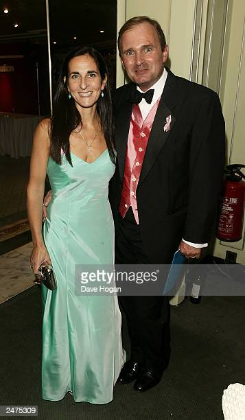 Gameshow contestant Major Charles Ingram and wife attend the TV Quick Awards 2003 held at the Dorchester Hotel London on September 8 2003 in London