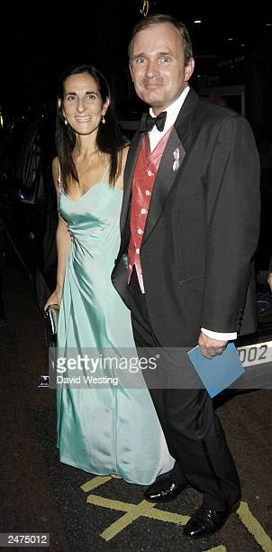 Gameshow contestant Major Charles Ingram and wife Diana leave the TV Quick Awards at The Dorchester London on September 8 2003 in London