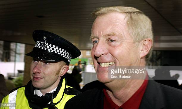 Gameshow host Chris Tarrant arrives at Southwark Crown Court March 12, 2003 in London, United Kingdom. Tarrant was giving evidence in the case...