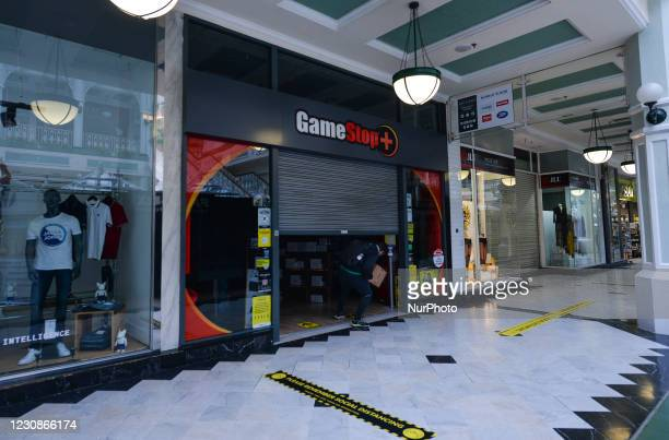 GameStop shop seen in Stephen's Green Shopping Centre in Dublin. In January 2021, a short squeeze caused GameStop stock to surge 1,500 percent in two...