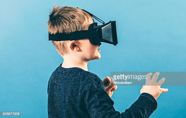 Gaming experience with VR glasses gives boy shock