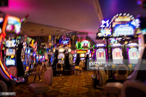 gaming machines in a casino - casino stock pictures, royalty-free photos & images