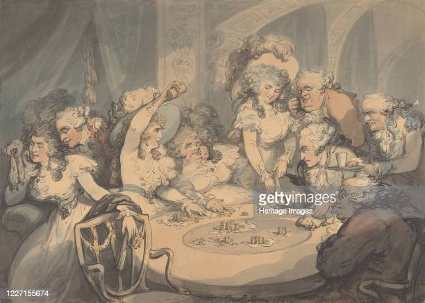 A Gaming Table at Devonshire House 1791 Artist Thomas Rowlandson