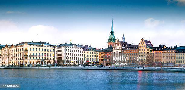 gamla stan district in central stockholm - stockholm stock pictures, royalty-free photos & images