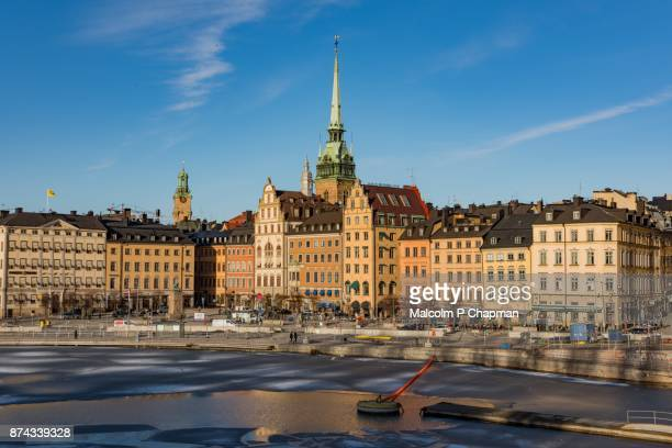 gamla stan, old town, stockholm, sweden - stockholm stock photos and pictures