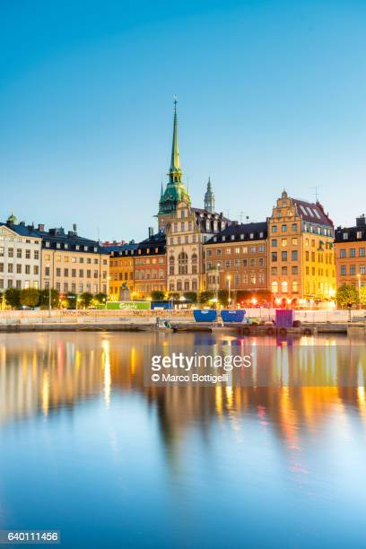 gamla stan, stockholm, sweden, scandinavia, northern europe. - estocolmo fotografías e imágenes de stock