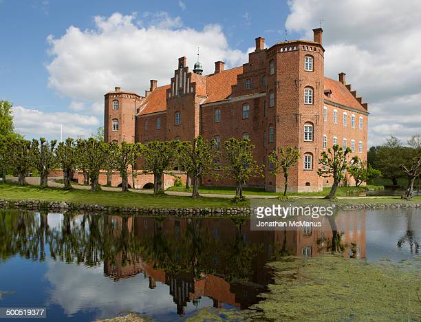 Gammel Estrup castle dates from 1490, although most of the present structure is from the sixteenth century.This photo shows the front and side...