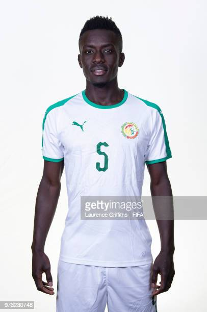 Gana Idrissa Gueye of Senegal poses for a portrait during the official FIFA World Cup 2018 portrait session at the Team Hotel on June 13 2018 in...