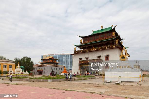 gandan monastery in ulan bator - gwengoat stock pictures, royalty-free photos & images