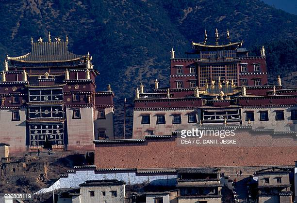 Ganden Sumtseling monastery in Shangri-La, also known as Zhongdian or Gyalthang, Yunnan. China, 17th century.