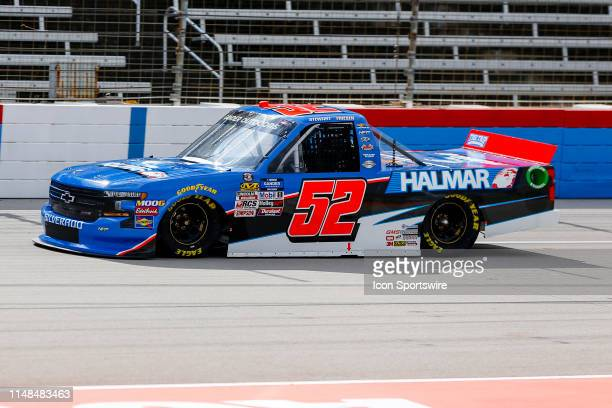 Gander Outdoors Truck Series driver Stewart Friesen speeds down the front stretch during qualifying for the SpeedyCashcom 400 on June 7 2019 at the...