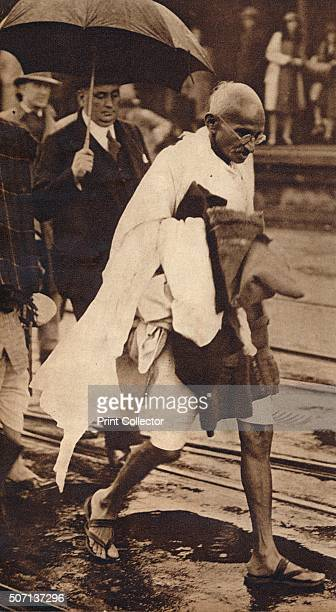 Gandhi in London' Gandhi visiting London for 'Round Table' conferences September 1930 From These Tremendous Years 19191938 [Daily Express London...