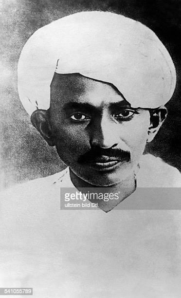Gandhi Mahatma *02101869Politiker IndienFuehrer der indischen Unabhaengigkeitsbewegung Portrait in jungen Jahren undatiert
