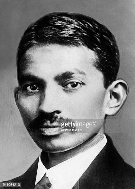 Gandhi Mahatma *02101869Politiker IndienFuehrer der indischen Unabhaengigkeitsbewegung Portrait als junger Anwalt undatiert