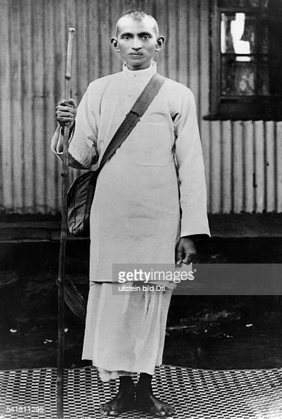 Gandhi Mahatma *02101869Politiker IndienFuehrer der indischen Unabhaengigkeitsbewegung waehrend der SatyagrahaKampagne in Suedafrika 1913