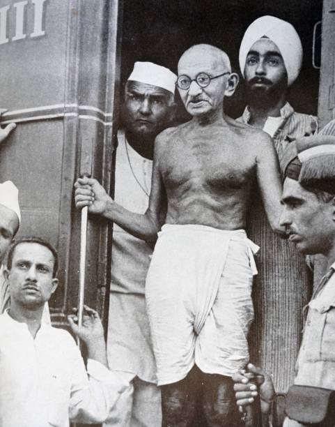 Gandhi visits Lahore 1947 Mohandas Karamchand Gandhi was the preeminent leader of the Indian independence movement in Britishruled India
