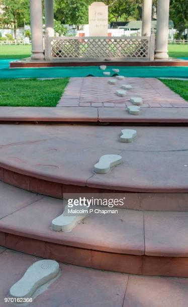 Gandhi's footsteps at Gandhi Smriti, New Delhi