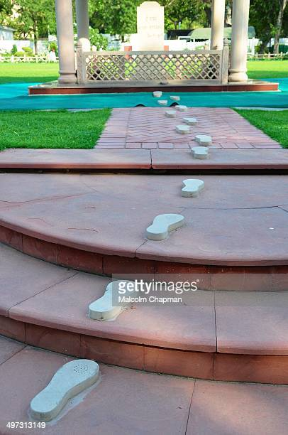 Gandhi's Path, the final footsteps of Mahatma Gandhi as he walked to a prayer meeting in the garden of Birla House. The Martyr's Column marks the...